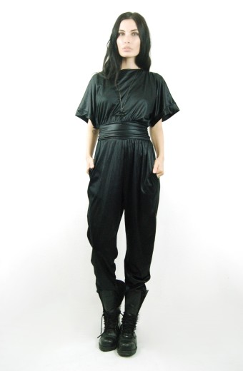 Liquid Leather Jumpsuit