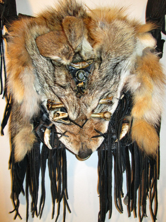 Coyote Face Medicine Pouch