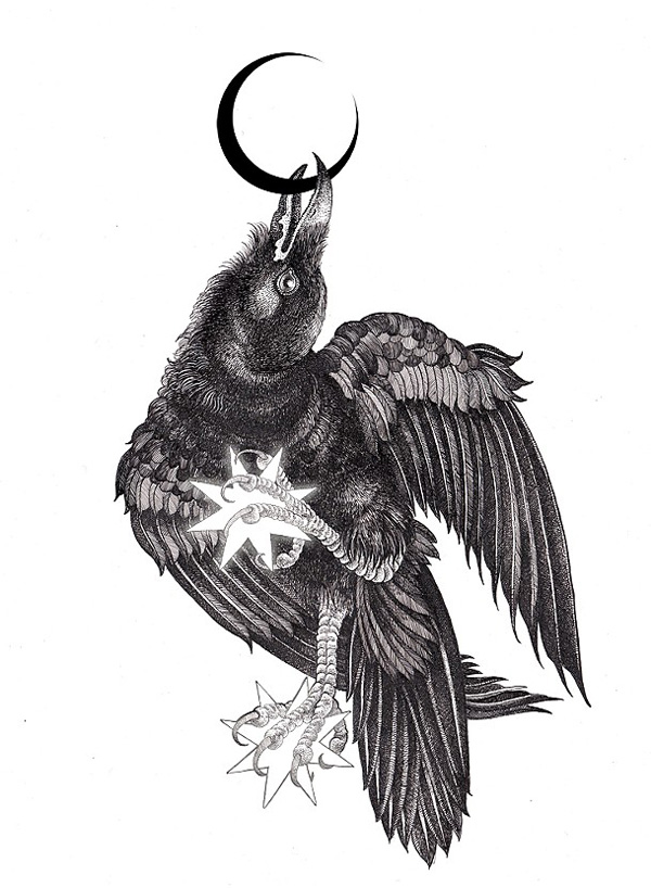raven crow half man - photo #36