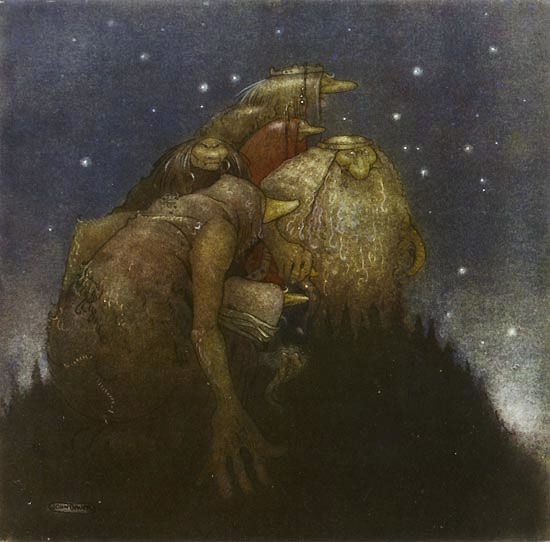 Trolls in the starlight john bauer