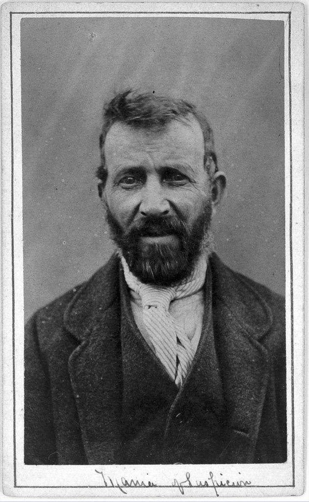 L0019064 Man suffering from mania of suspicion; H. Clarke, 1869