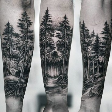 amazing-guys-forest-inner-forearm-tattoo